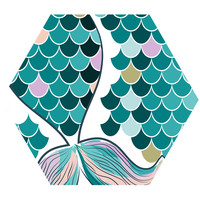 Mermaid Tail Hex Wall Decal