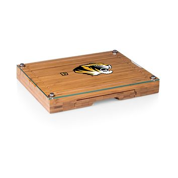 Missouri Tigers - Concerto Glass Top Cheese Cutting Board & Tools Set, (Bamboo)