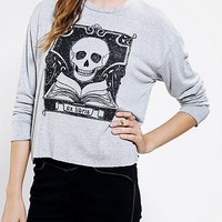 Silence + Noise Skull Library Tee - Urban Outfitters