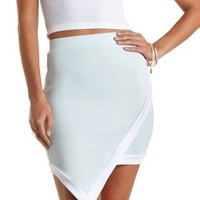 Contrast-Trim Asymmetrical Skirt by Charlotte Russe