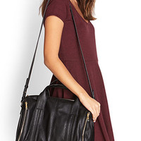 Faux Leather Zippered Bag