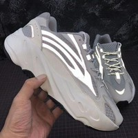 Adidas Yeezy 700 Boost Sneakers Fashion Casual Running Reflective strip Sport Shoes