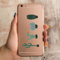 360° Protection Cactus Don't Be A Prick Clear iPhone Case