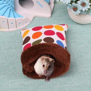Warm Plush Hamster Nest Bed House Soft  Pig Pocket Sleeping Bag Small Animals Rat House Hamster Cage Pouch small pet bed House