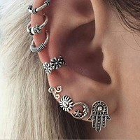 New fashion earrings retro sun sunny earrings eight sets of earrings
