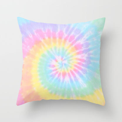 Tie Dye Love Throw Pillow By Pink Berry From Society6