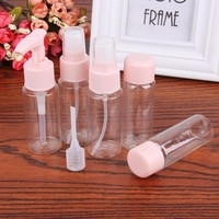 5Pcs/Lot Empty 30ML Cosmetics Refillable Bottles Portable Travel Makeup Cream Pressed Perfume Clear Spray Refillable Bottles