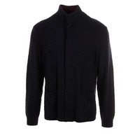 Zachary Prell Mens Wool Cable Knit Cardigan Sweater