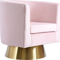 Bellagio Pink Velvet Accent Chair