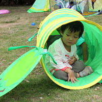 Baby Tunnel Caterpillar Crawling Animal Baby Tent Toys Indoor Outdoor Kids Play Tent for Children Rom Color