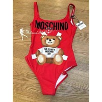 Moschino Cute Bear Prints Swimsuit-1