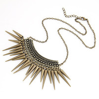 Vintage Gold Necklaces & Pendants Chunky Spike Choker Collars Women Men Jewelry Costumes Accessories
