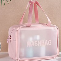 Portable waterproof large-capacity storage simple cosmetic handbag toilet bag