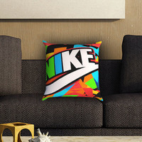 Just Do It Nike Full Color Pillow Cover , Custom Zippered Pillow Case One Side Two SIde