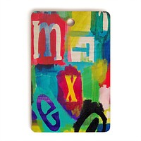 Natalie Baca Alphabet City 2 Cutting Board Rectangle