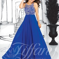 Elegant Scoop Floor-length Chiffon Prom Dress with Beading Style TFAY031,Unique Prom Dresses