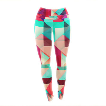 "Danny Ivan ""Still New"" Red Pink Yoga Leggings"