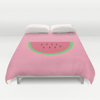 Watermelon Duvet Cover by Brittcorry