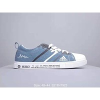 ADIDAS 2019 new breathable versatile canvas sneakers Blue