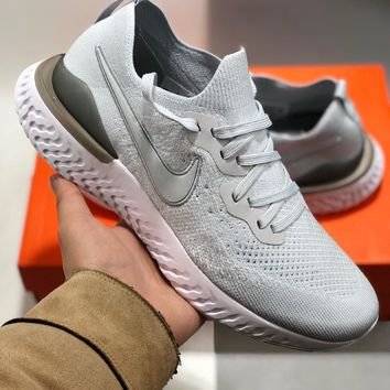 Nike Epic React Flyknit cheap Mens and womens nike shoes