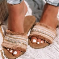 New sexy women's flat flat sandals are hot sellers