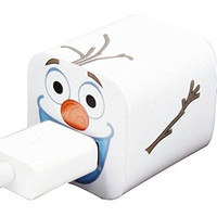 Disney Iphone Charger USB Skin Sticker Wrap -Sticker Only Not Include Charger (Olaf)