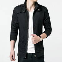 Jackets Slim Fits Casual Coats Outwears Casual Jackets