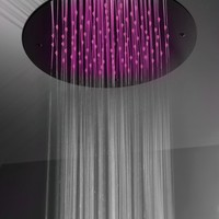 Ceiling mounted overhead shower with chromotherapy EASY Docce Cromoterapiche Collection by Gattoni Rubinetteria