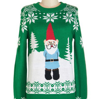 ModCloth Quirky Mid-length Long Sleeve Yule Be in My Heart Sweater