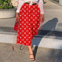 LV Newest Fashion Women Letter Print Skirt