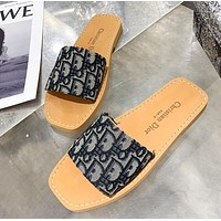 Dior new slippers fashion printed letters embossed street slippers