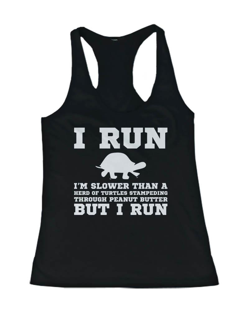 Image of I'm Slower than a Turtle Funny Workout Tank Top Gym sleeveless Shirt