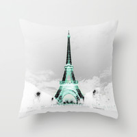 paris Throw Pillow by 2sweet4words Designs