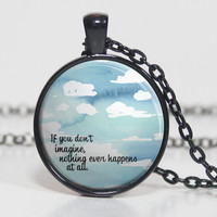 Imagine Quote - Paper Towns - John Green - Book Quote Charm Necklace (B7750)