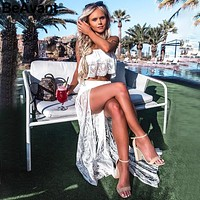 Floral Lace Two Piece Summer Dress