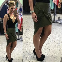 In A Knot Skirt: Olive