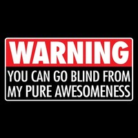 Warning - You Can Go Blind From My Pure Awesomeness T-Shirt