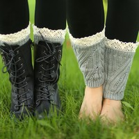 All in the Details Short Leg Warmers in Gray