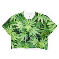 Weed Leafs Crop Top