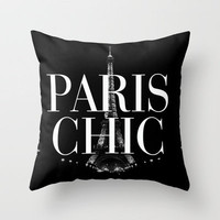 Paris Chic Vintage Eiffel Tower Throw Pillow by RexLambo | Society6