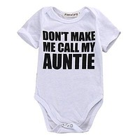 Lovely Gifts Baby Girls Boy Short Sleeve Romper Infant Letter Printed Jumpsuit Clothes Outfits