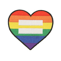 Loungefly Rainbow Heart Equality Iron-On Patch