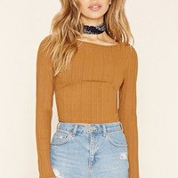 Ribbed Y-Back Crop Top | Forever 21 - 2000221228