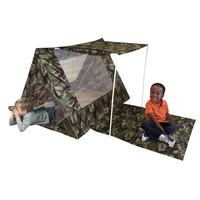 Kid's Adventure Camo Fort Play Tent Set