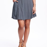 Soft Drapey Printed Skirt for Women   Old Navy