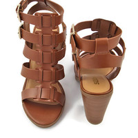 WEB EXCLUSIVE: Siena Gladiator Sandals in Brown