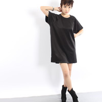 YOUNG HUNGRY FREEMade For You Shirt Dress in Black