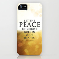 Let the Peace of Christ rule in your hearts - Bible Lock Screens iPhone & iPod Case by Bible Lock Screens