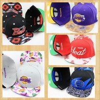 Basketball Floral Design SnapBack Hats from CherryKreations21