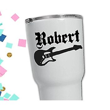 Custom Guitar decal for cup, Best man gift